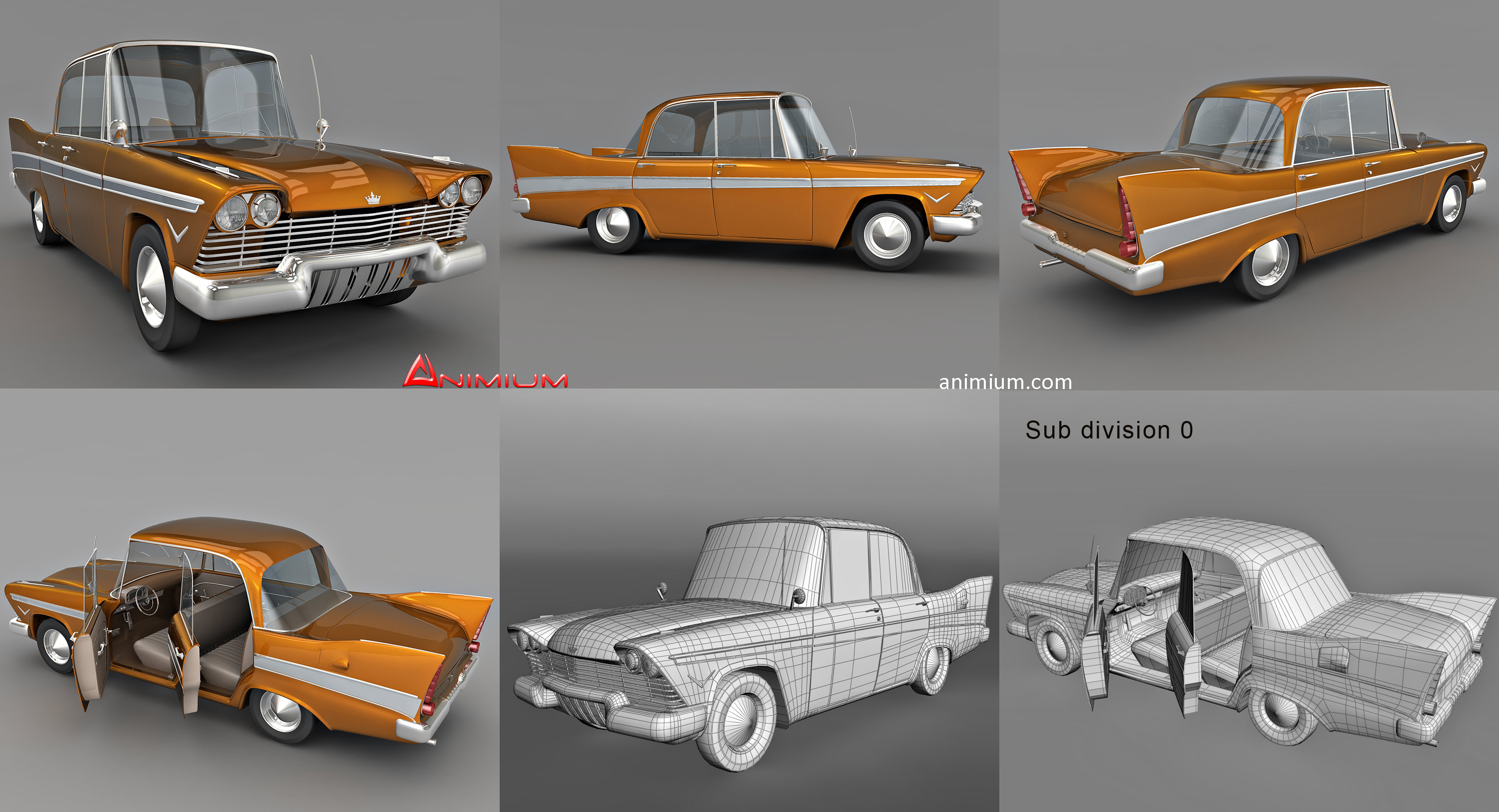 Cartoon Car 3d Model Animium 3d Models