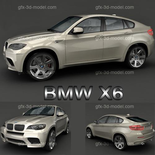 3dSkyHost: BMW X6 3d  car model