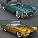 1957 Ford Thunderbird 3d model