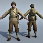 WW2 Soldier 3d model
