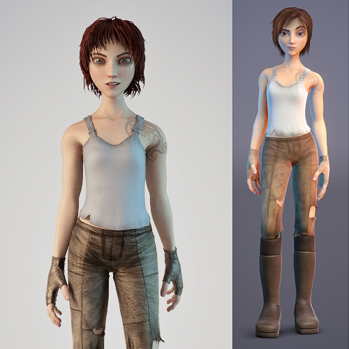 Introduction To Character Modeling In Blender Free Download : Sintel d character model free models