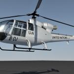 SA 342 Gazelle 3d model