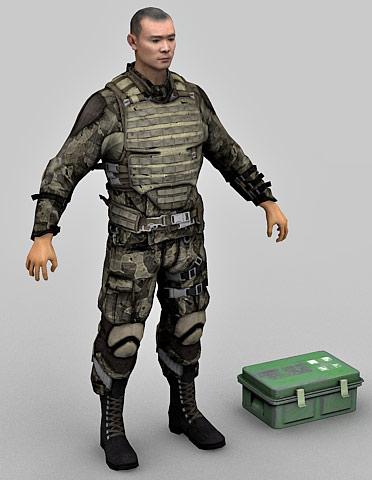 Marine 3d Character model