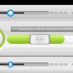 Media Player UI free psd file