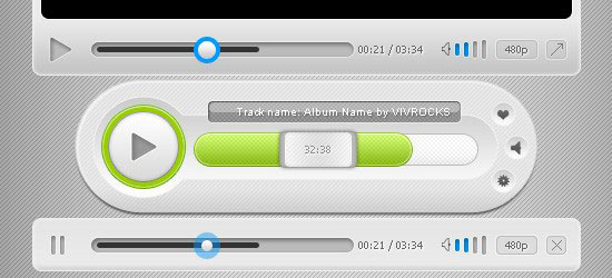 Media Player UI free psd file