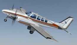 Beechcraft Baron 58 free 3d model