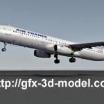 Airbus A321 3d model