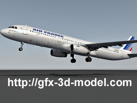Airbus a321 free 3d model