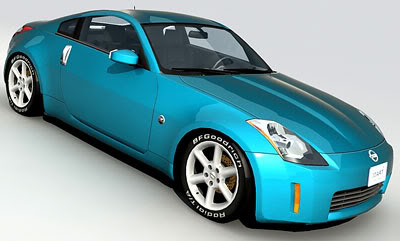 Nissan 350z – Medium poly