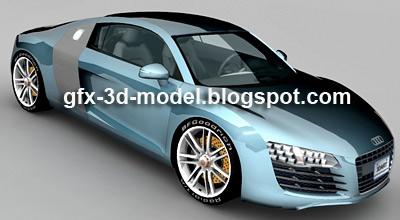 Audi R8 5.2 FSI car model