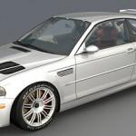 BMW M3 E46 GTR 3d model