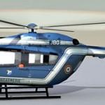 EC-145 gendarmerie 3d model