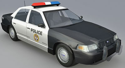 Ford Crown Victoria – Lowpoly