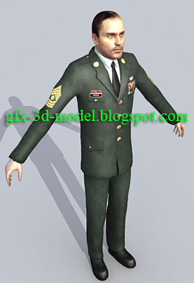 Army Officer – 3d character