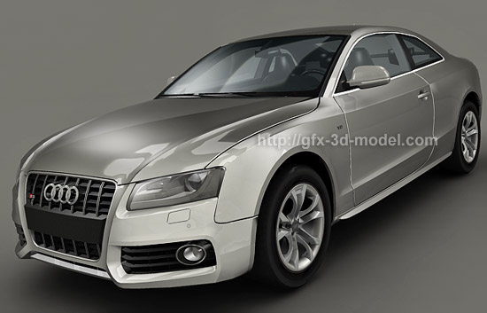 Audi S D Model Free D Models - Audi car 3d image