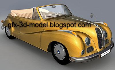 BMW 502 car model