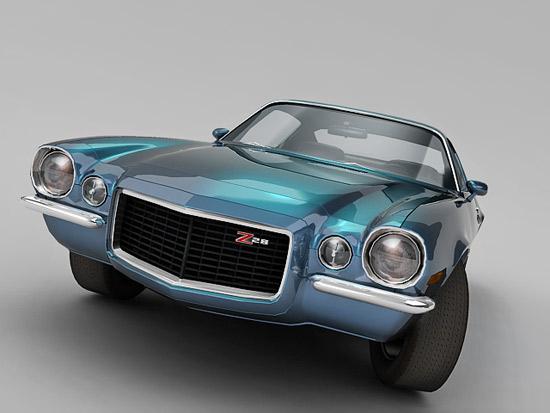 chevrolet camaro free 3d model
