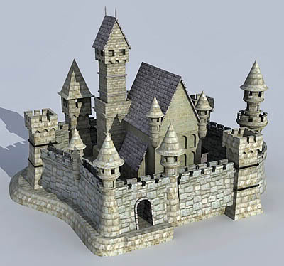 Castle free 3d models Design a castle online