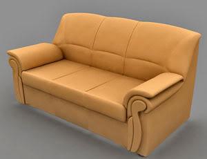 Lowpoly Sofa Model