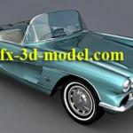 1961 Corvette car model