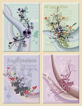 Floral Design Vectors – Pack 1