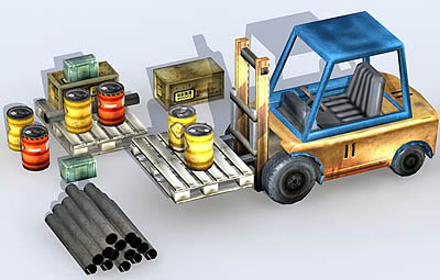 Forktruck and Props
