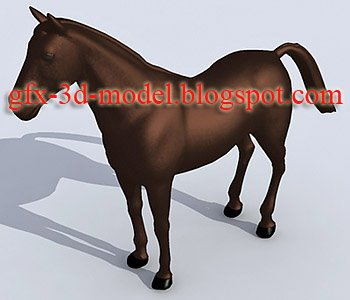 Horse 3d animal model