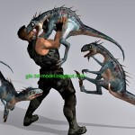 Dino Hunter 3d model