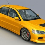 Lancer Evolution 3d model – Bitmaps