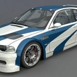 BMW M3 GTR 3d model