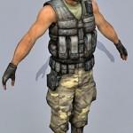 Soldier 3d model 09