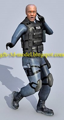 SWAT Officer Character model