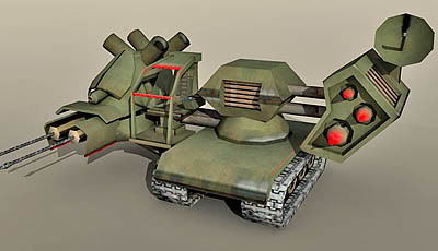 Lowpoly Armoured Vehicle