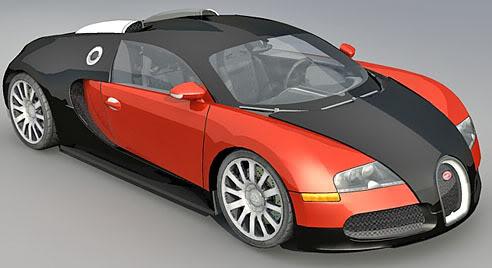 Bugatti Veyron – Lowpoly