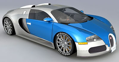 Bugatti Veyron – Medium Poly