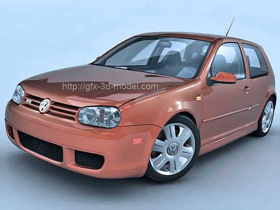 volkswagen golf 4 3d model free 3d models. Black Bedroom Furniture Sets. Home Design Ideas