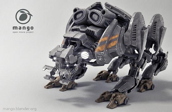 Quadbot Free 3d Model