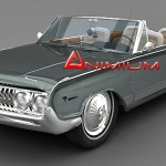 Mercury Park Lane 1964 3d model