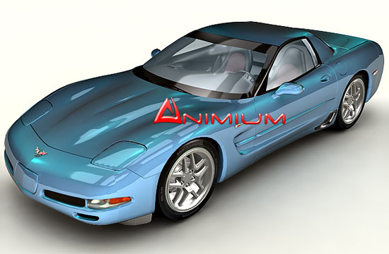 3dSkyHost: Chevrolet Corvette Z06 3d model