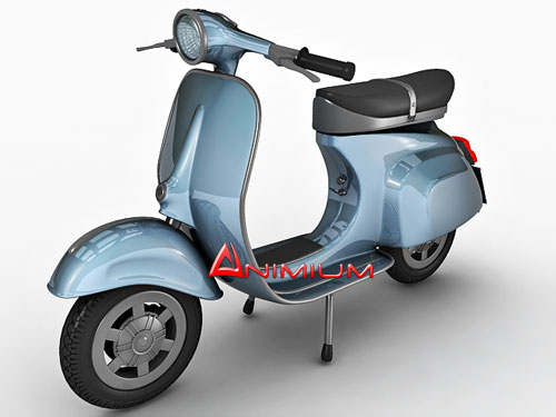 vespa scooter 3d model