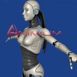 Robot Woman 3d character