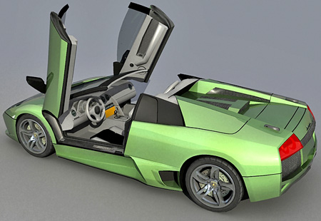 Murcielago roadster 3d model
