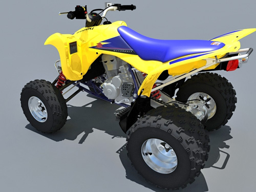 Suzuki LTZ400 Quad bike 3D model