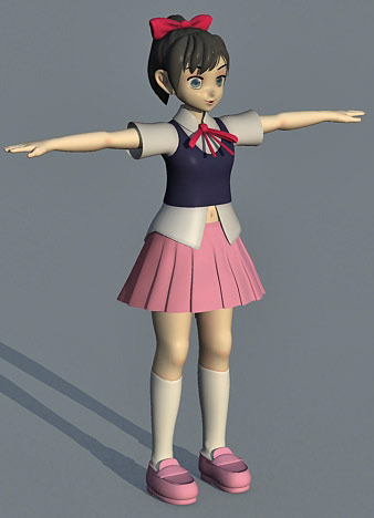 3d anime model, girl character, cartoon 3d models, free 3d character