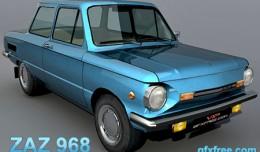 zaz 968 3d model