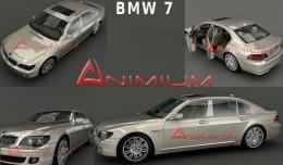 BMW 7 3d model rendering