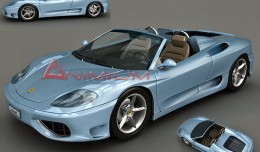Ferrari 360 Spider 3d render