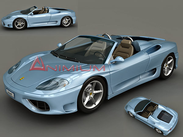 3d Car Models Ferrari 360 Spider Free 3d Models