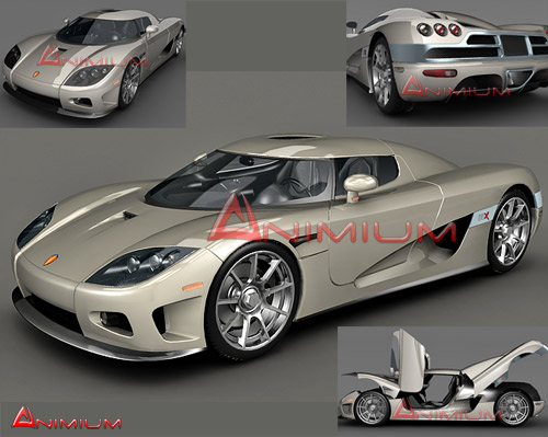 3d model of koenigsegg ccx