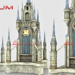 3d models Medieval clock tower
